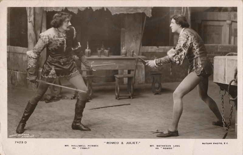 "Halliwell Hobbes as Tybalt and Matheson Lang as Romeo in ""Romeo and Juliet"""