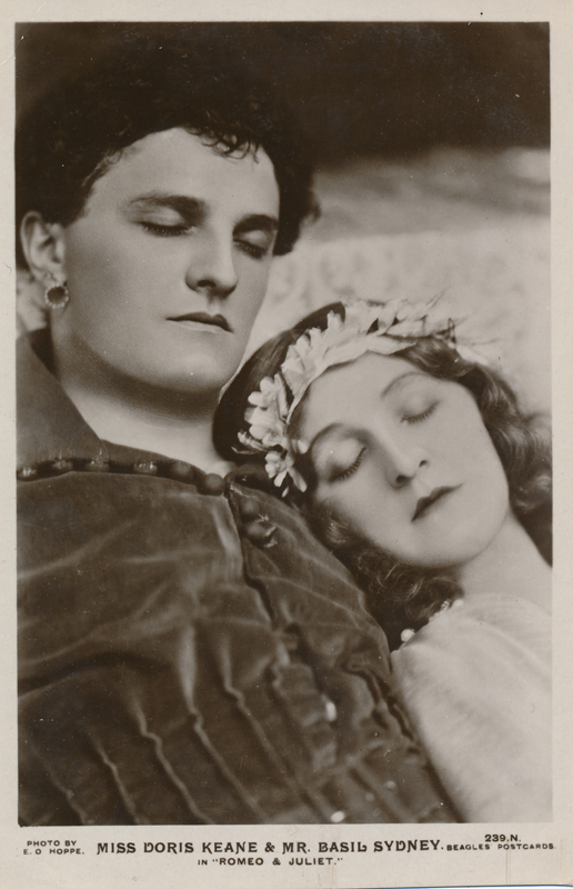 "Doris Keane as Juliet and Basil Sydney as Romeo in ""Romeo and Juliet"""