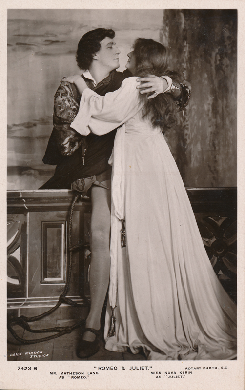 "Matheson Lang as Romeo and Nora Kerin as Juliet in ""Romeo and Juliet"""
