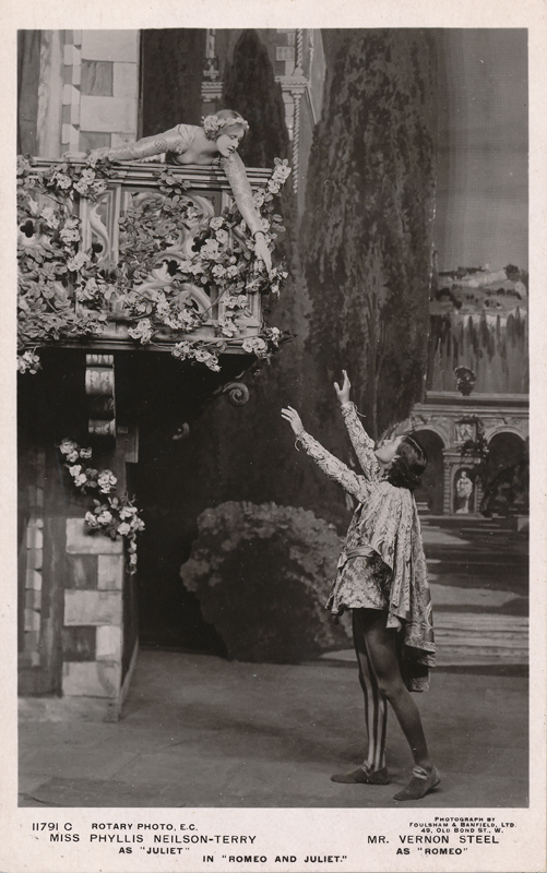 """Phyllis Neilson-Terry as Juliet and Vernon Steel as Romeo in """"Romeo and Juliet"""""""