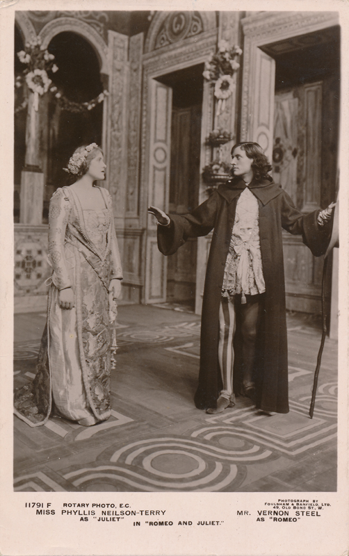 "Phyllis Neilson-Terry as Juliet and Vernon Steel as Romeo in ""Romeo and Juliet"""