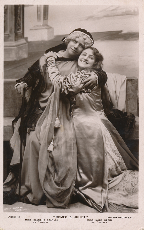 "Blanche Stanley as Nurse and Nora Kerin as Juliet in ""Romeo and Juliet"""