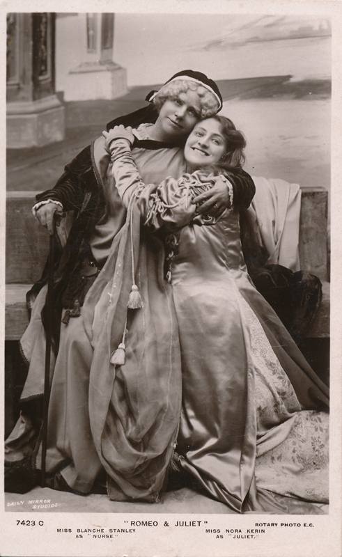 "Blanche Stanley as Nurse and Nora Kerin as Juliet in ""Romeo and Juliet"" (b)"