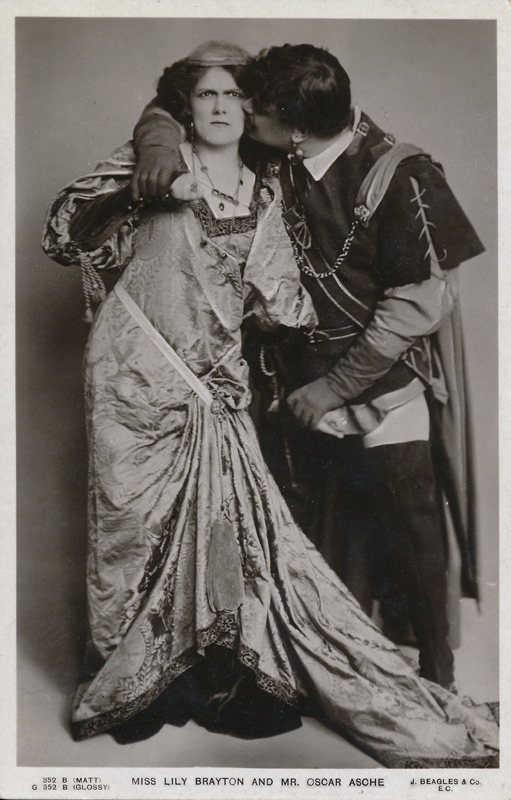 "Lily Brayton as Katharina and Oscar Asche as Petruchio in ""The Taming of the Shrew"""