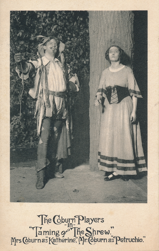 "Charles Coburn and Ivah Wills Coburn as Petruchio and Katerina in ""The Taming of the Shrew"""