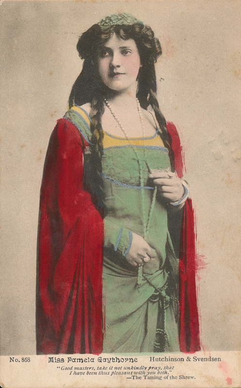 "Pamela Graythorne as Katerina in ""The Taming of the Shrew"""