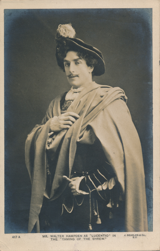 "Walter Hampden as Lucentio in ""The Taming of the Shrew"""