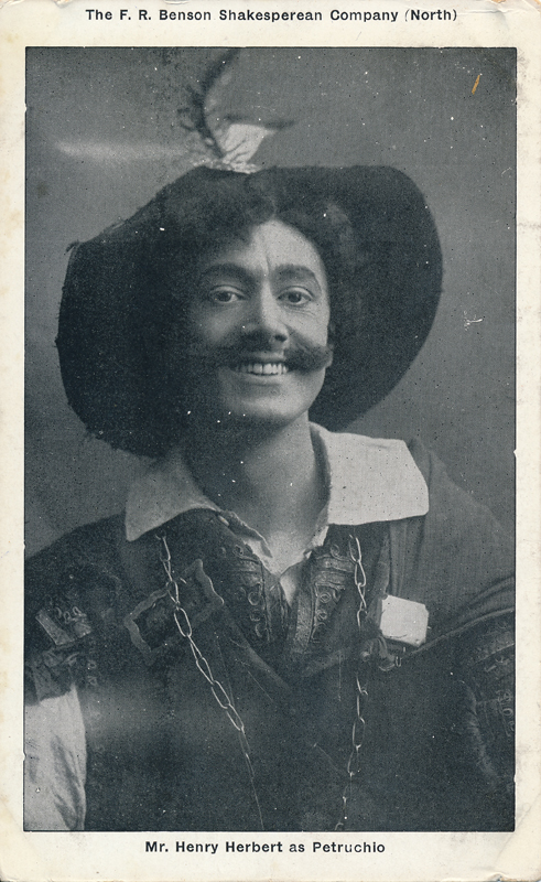 "Henry Herbert as Petruchio in ""The Taming of the Shrew"""
