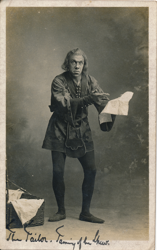 "Unknown Actor as Tailor in ""The Taming of the Shrew"""
