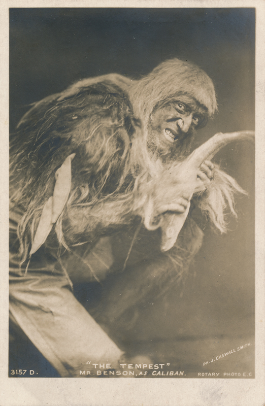 "Frank Benson as Caliban in ""The Tempest"""