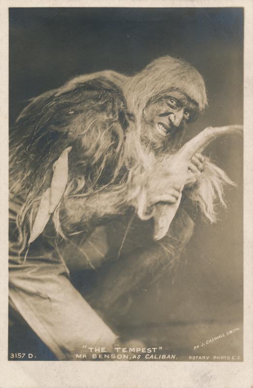 "Frank Benson as Caliban in ""The Tempest"""