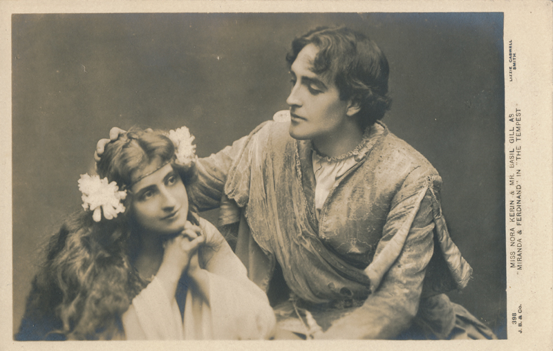 """Nora Kerin and Basil Gill as Miranda and Ferdinand in """"The Tempest"""""""