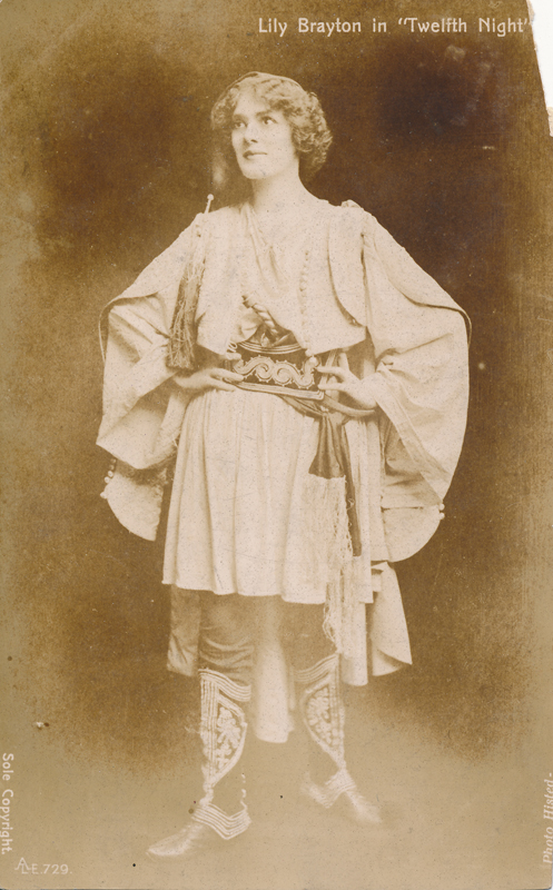 "Lily Brayton as Viola in ""Twelfth Night"""