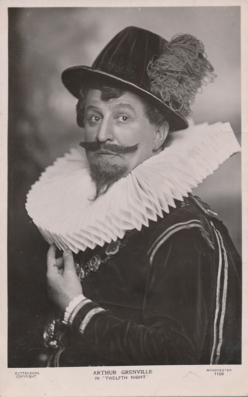 "Arthur Grenville as Sir Andrew Augecheek in ""Twelfth Night"""