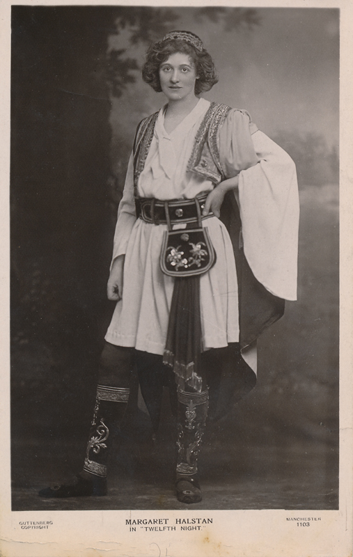 "Margaret Halstan as Viola in ""Twelfth Night"""