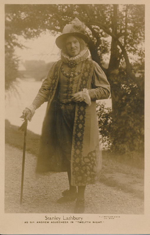 "Stanley Lathbury as Sir Andrew Aguecheek in ""Twelfth Night"""