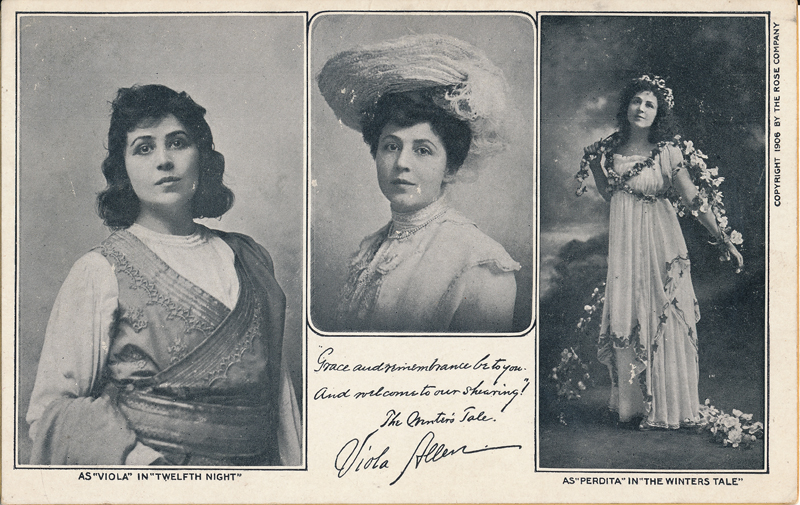 "Viola Allen as Viola in ""Twelfth Night"" and as Pedita in ""The Winter's Tale"""
