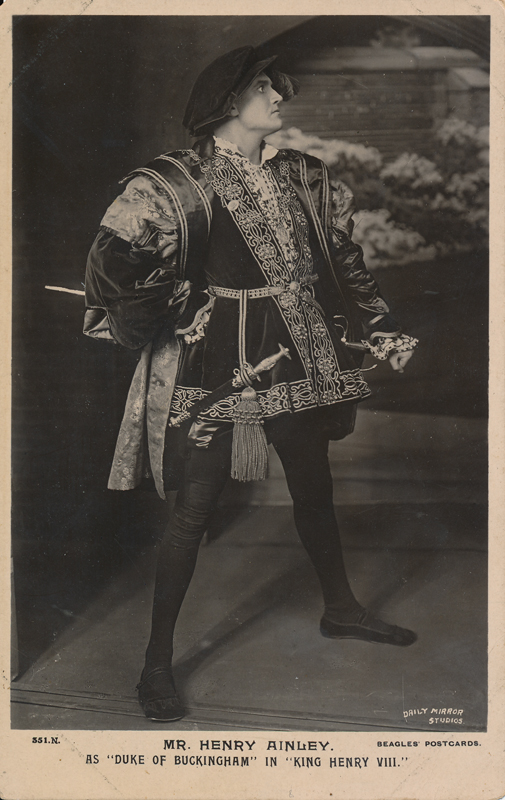 """Henry Ainley as the Duke of Buckingham in """"Henry VIII"""""""