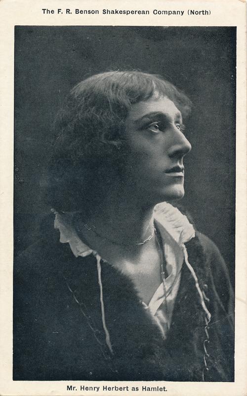 "Henry Herbert as Hamlet in ""Hamlet"""