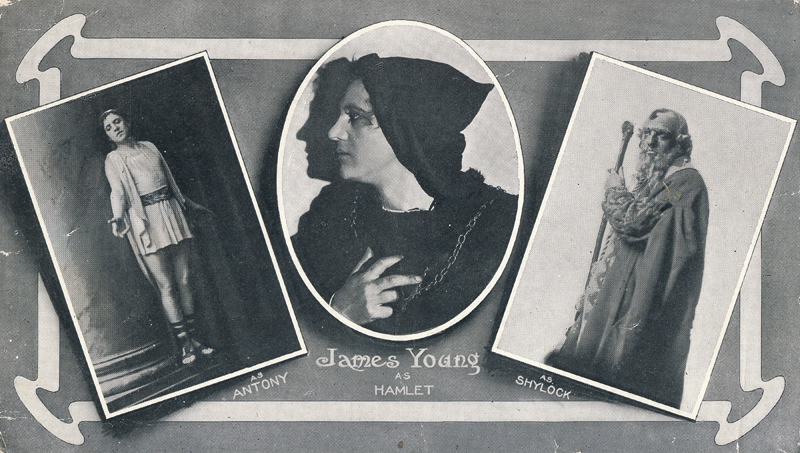 James Young as Hamlet, Shylock, and Marc Antony