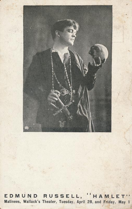 """Edmund Russell as Hamlet in """"Hamlet"""""""