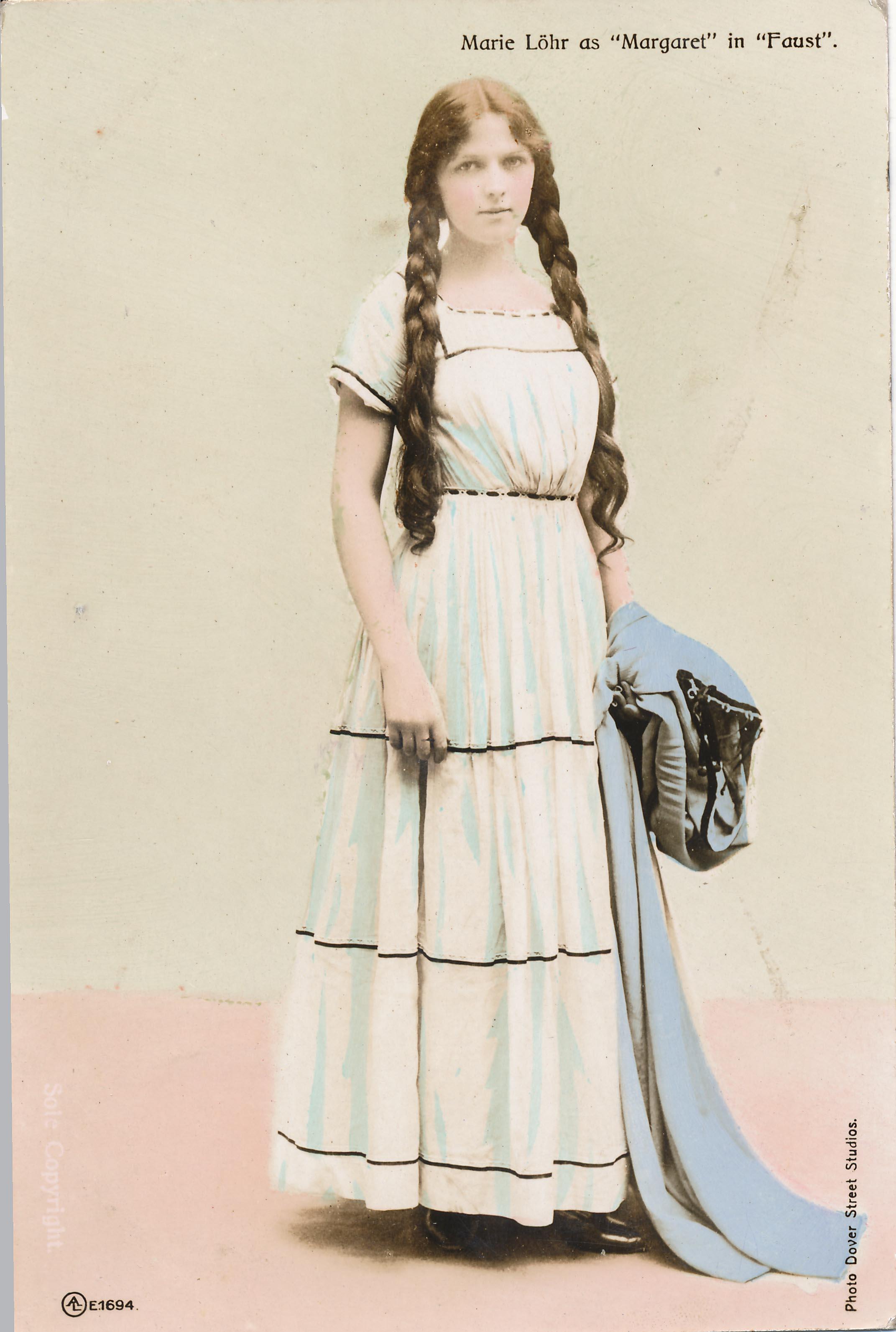 "Marie Lohr as Margaret in ""Faust"""