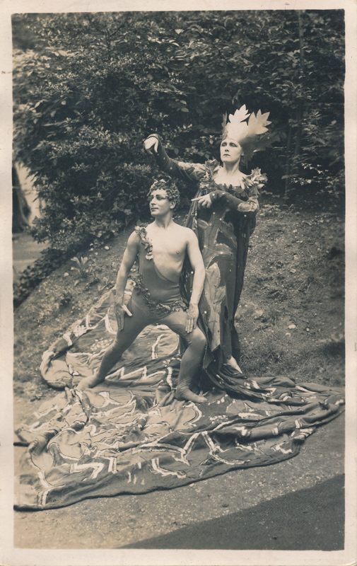 "Leslie French as Puck and Fay Compton as Titania in ""A Midsummer Night's Dream"""