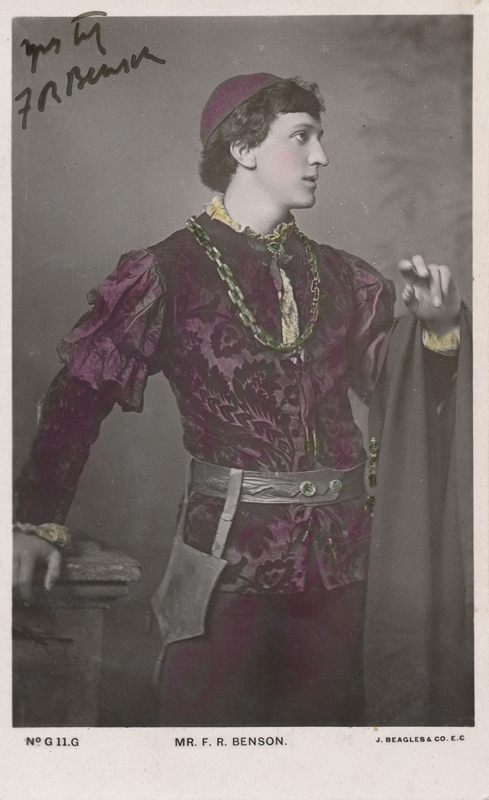 "Frank Benson as Romeo in ""Romeo and Juliet"""