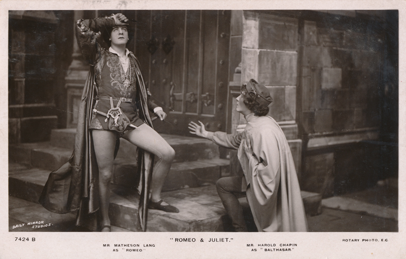 "Matheson Lang as Romeo and Harold Chapin as Balthasar in ""Romeo and Juliet"""
