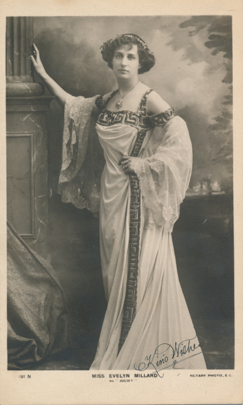 "Evelyn Millard as Juliet in ""Romeo and Juliet"""