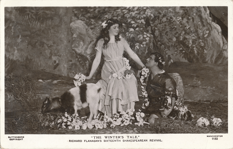 "Harvey Braban as Florizel and Lilian Christine as Perdita in ""The Winter's Tale"""