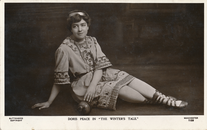 "Doris Peace as Attendant in ""The Winter's Tale"""