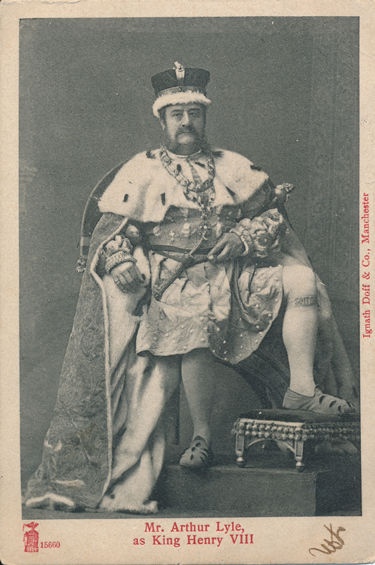 "Arthur Lyle as King Henry VIII in ""Henry VIII"""