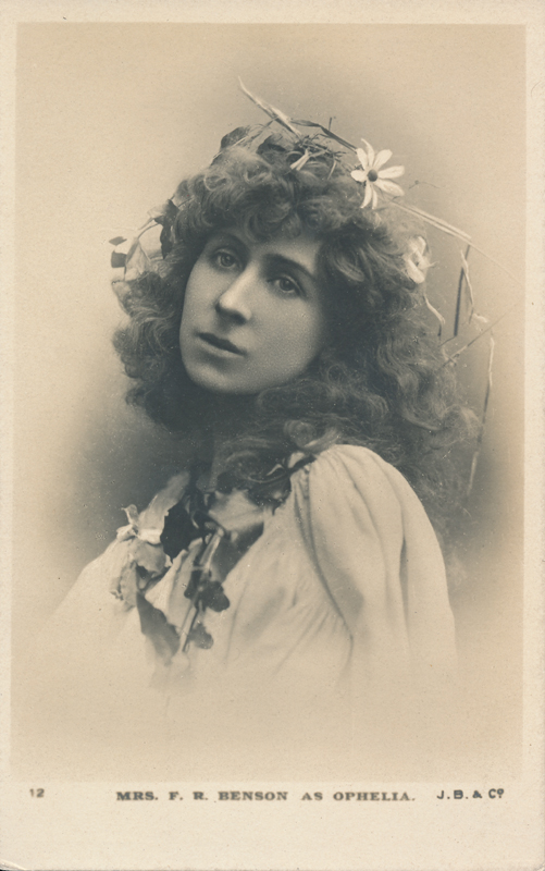 "Constance (Mrs. F. R.) Benson as Ophelia in ""Hamlet"""