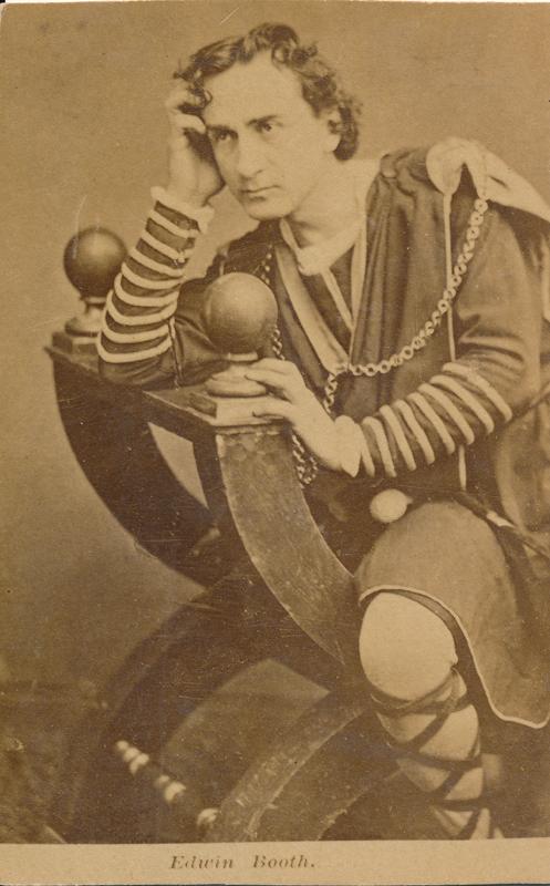 """Edwin Booth as Hamlet in """"Hamlet"""""""