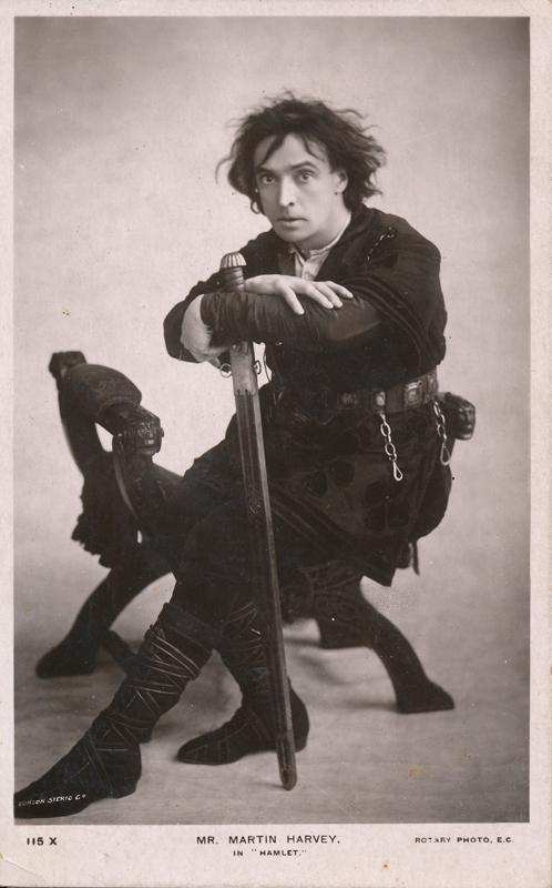 "Martin Harvey as Hamlet in ""Hamlet"""
