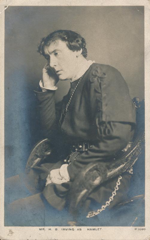 "H. B. Irving as Hamlet in ""Hamlet"""