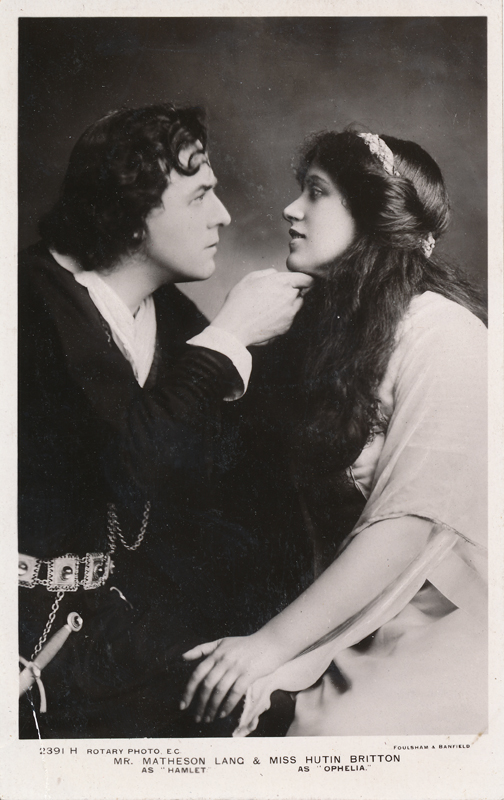 "Matheson Lang as Hamlet and Hutin Britton as Ophelia in ""Hamlet"""