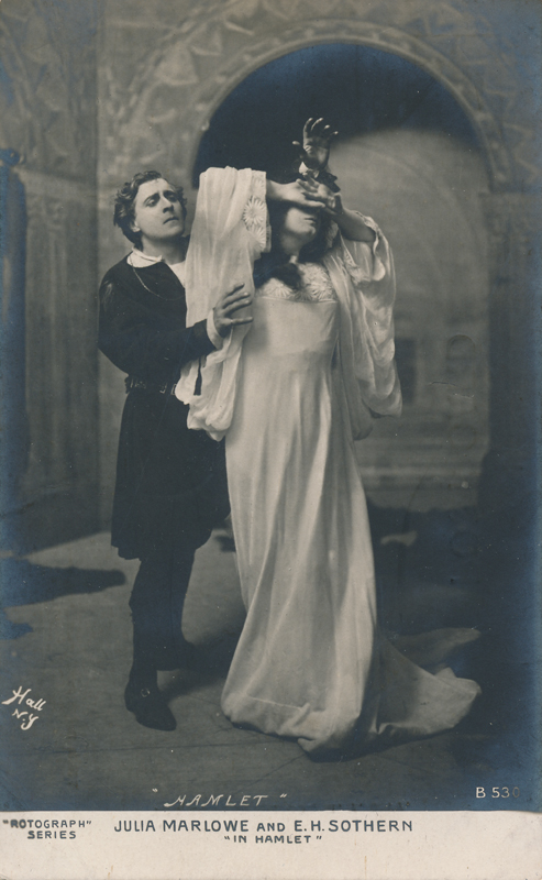 "Julia Marlowe as Ophelia and E. H. Sothern as Hamlet in ""Hamlet"""