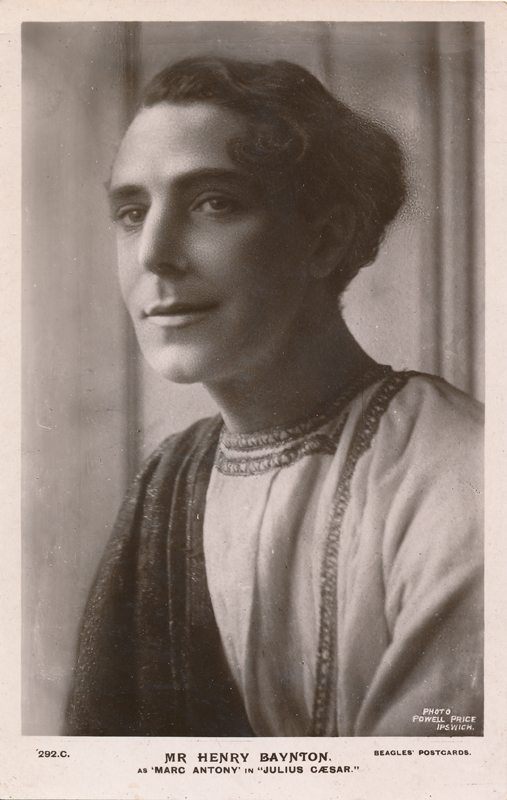 "Henry Baynton as Marc Antony in ""Julius Caesar"""