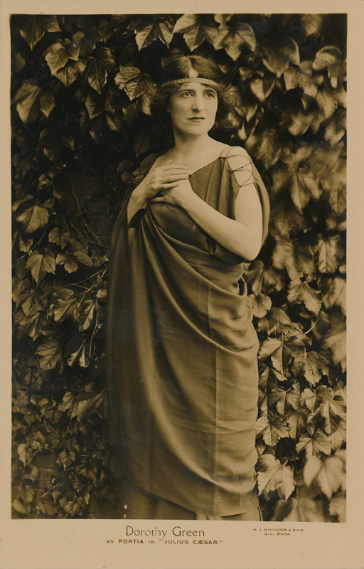 "Dorothy Green as Portia in ""Julius Caesar"""