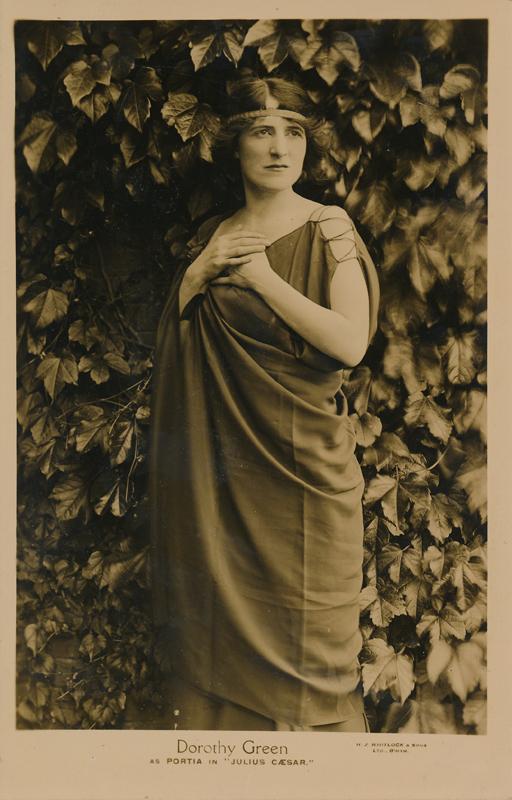 """Dorothy Green as Portia in """"Julius Caesar"""""""