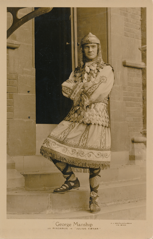 "George Manship as Pindarus in ""Julius Caesar"""