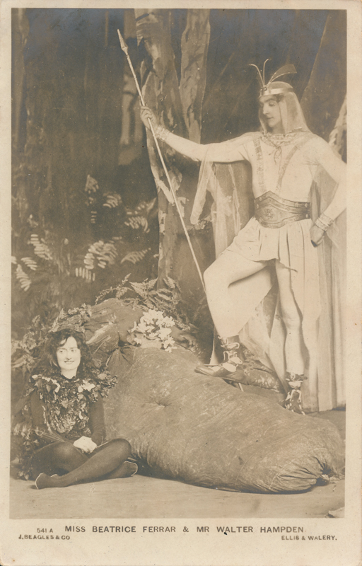 "Beatrice Ferrar as Puck and Walter Hampden as Oberon in ""A Midsummer Night's Dream"""