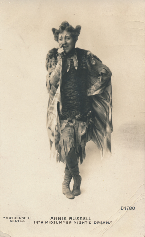 "Annie Russell as Puck in ""A Midsummer Night's Dream"""