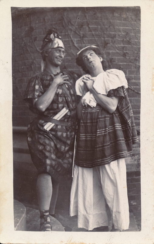 "Actors as Francis Flute and Nick Bottom in ""A Midsummer Night's Dream"""