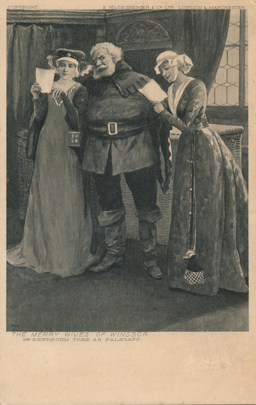 "Herbert Beerbohm Tree as Falstaff in ""The Merry Wives of Windsor"""
