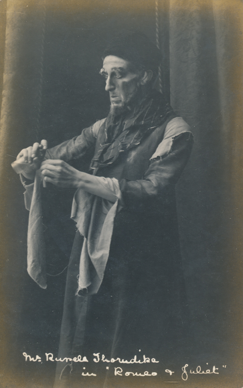 "R. Thorndike as a character in ""Romeo and Juliet"""